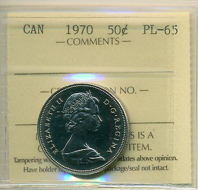 1970 Canada 50 Cent ICCS PL-65, Very Affordable for New Hobbyist