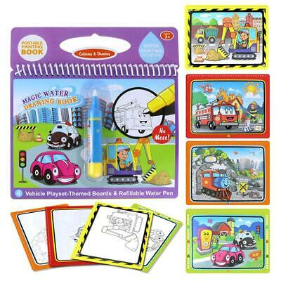 Kids Educational Magic Water Drawing Book Coloring Doodle Painting Book Toy +Pen