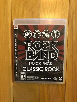 Rock Band Track Pack: Classic Rock (Sony PlayStation 3, 2009) PS3 Complete CIB