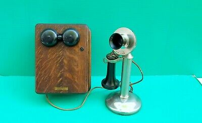 Antique Western Electric Candlestick Telephone w 70 OST Receiver & Ringer Box
