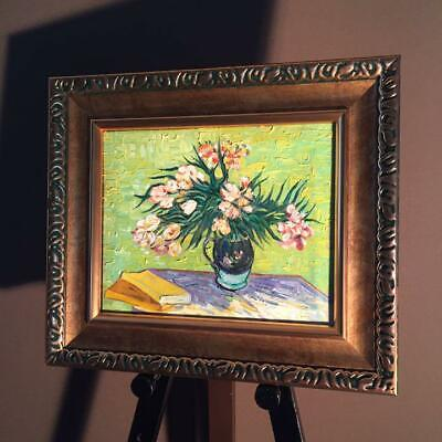 Hand-painted oil painting Still life with nerium and book Van Gogh