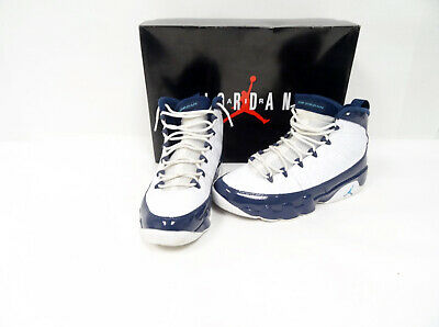 63f9a987cdf Nike Air Jordan 9 IX Retro UNC White University Blue 302370-145 Sz10 P1/