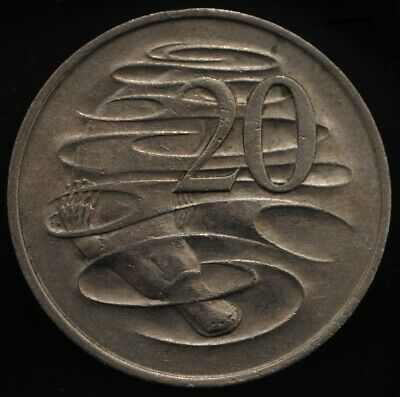 1966 Australian 1966 Platypus 20 Cent Coin in Circulated Condition.