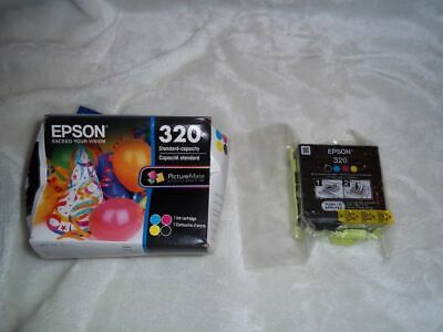 New Genuine OEM - Epson 320 Color Ink Cartridge (for PM 400) T320 - Exp 03/2021