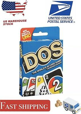 UNO DOS Card Game From the Makers of UNO for 2-4 Players Ages 7Y+ Fast Shipping