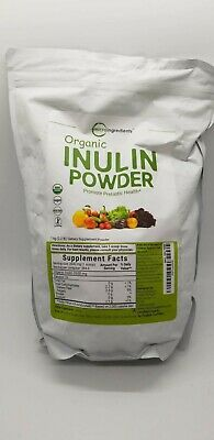 Organic Inulin Powder*Microingredients*384.6servings*2.2lbs*3/20exp*Sealed/NEW