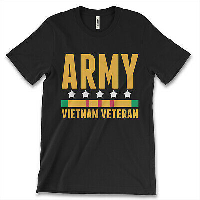 Army Vietnam Veteran New Men's Shirt War Retired Military Unit Armed Force Navy