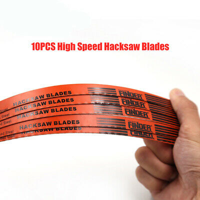 "10x Hacksaw Blades 24 TPI 12"" 300mm Shatter Proof Bi - Metal Replacement Blades"