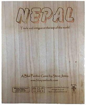 Blue Panther Boardgame Nepal - Trade and Intrigue at the Top of the Worl Box NM