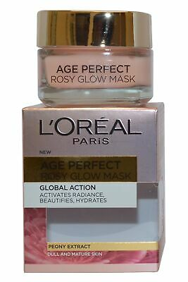 L'Oreal Age Perfect Rosy Glow Mask 50ml Global Action  Dull and Mature Skin