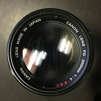 Canon FD 200mm f/4 f4 S.S.C Lens, For Canon FD Mount