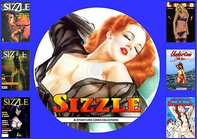 Sizzle & Other Euro Comics  On DVD Rom