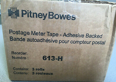 3 Rolls of Pitney Bowes Connect+ Franking Machine Labels (613-H)
