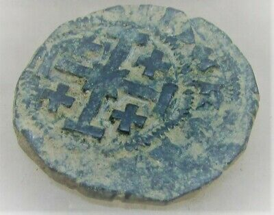 Ancient Byzantine Hammered Crusaders Coin