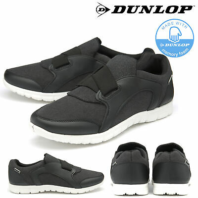 Dunlop Mens Trainers Elastic Fastening Slip On Memory Foam Gym Shoes Sizes 7-11