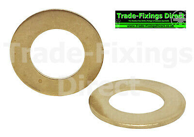 M4 (4mm) SOLID BRASS WASHERS FORM A