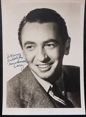McDonald Carey signed photo in blue ink (American actor )