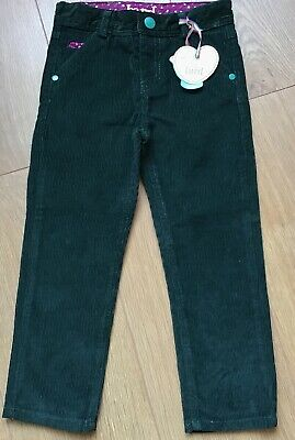 Little Bird By Jools Oliver Girls  Green Cord Trousers 3-4 Years 🌈 BNWT 🌈🍄