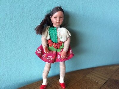 Mädchen Caco Puppe Puppenhaus 70er 1:12  Puppenstube dollhouse flexible doll