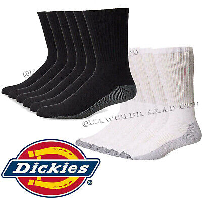 12 Pairs DICKIES Mens Industrial Crew Boot Work Socks Thick Heavy Duty 6-11 lot