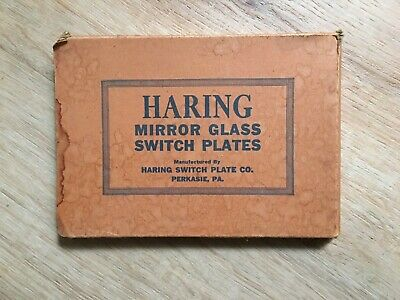 Vintage Light Switch Cover  Haring 3 Switch Round Push Switches