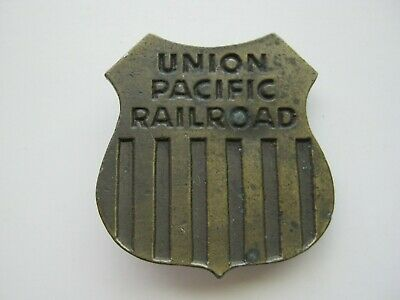 Vintage 1974 Union Pacific Railroad ~ Lewis Buckle Co. ~ Brass Buckle