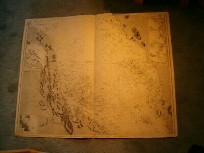 Vintage Admiralty Chart 8D THE RED SEA - SHEET 4 1873 edn