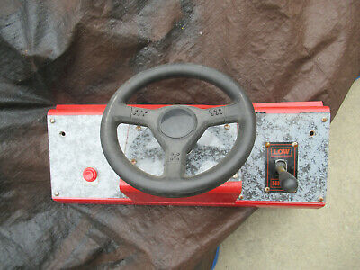 METAL CONTROL PANEL WITH HAPP STEERING WHEEL AND SHIFTER  arcade game part fl