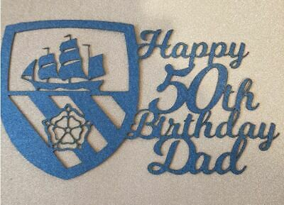 Manchester city FC Cake topper Man City Personalised Custom  Any Age Any Name