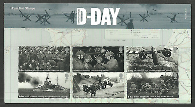 Gb 2019 D-Day Normandy Landings Military Presentation Pack Set & M/Sheet Mnh