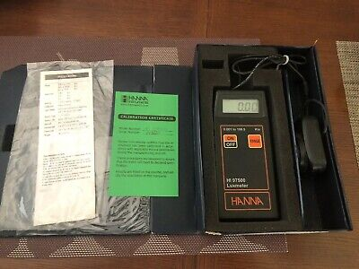 HANNA HI 97500 portable LUXMETER 0.001 to 199.9