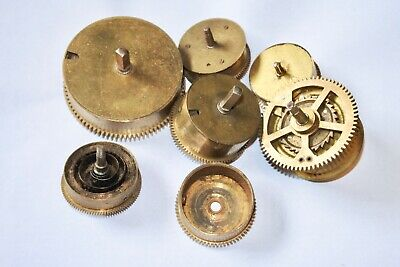 Mixed Lot of Vintage Clock Springs Mainsprings Wheel Gear parts AS IS