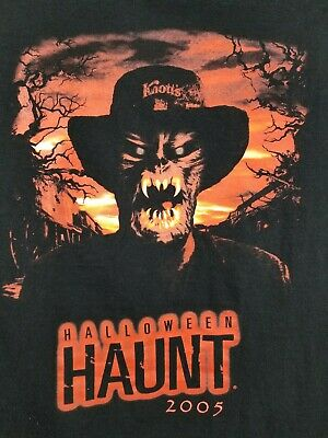 Vintage 2005 Knotts Scary Farm Halloween Haunt T-Shirt Size Large