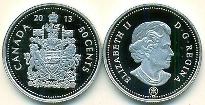2013 Canada Proof 99.99% Fine Silver 50 cent, Very nice coin.