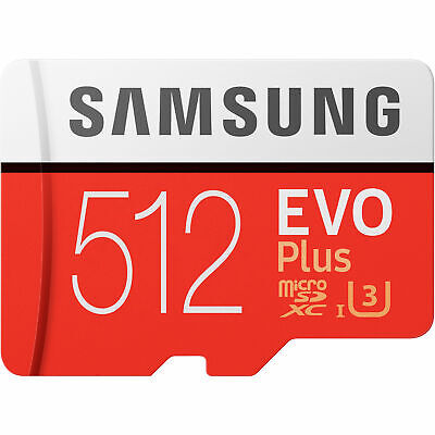 Samsung Evo Plus 512GB Micro SD Card SDXC Class 10 100MB/S Phone Memory Card