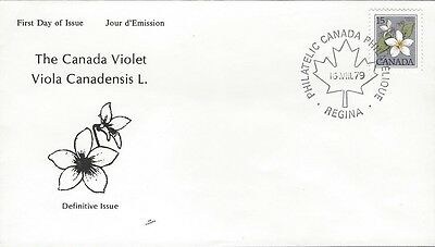 1979 Floral Definitives #787 Canada Violet FDC with NR Covers cachet