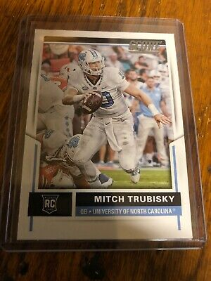 7c1cfe28756 MITCH TRUBISKY HAND Signed Chicago Bears / UNC Tarheels Football ...