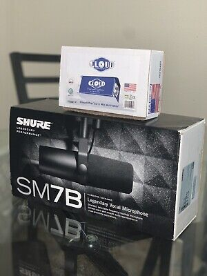 Shure SM7B Dynamic Wired Professional Microphone with Cloudlifter