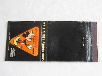 T214 Vintage Matchbook Cover Walt Disney Productions CA California