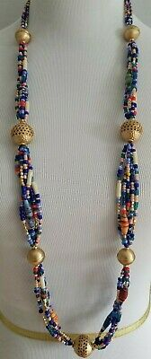 Chico's Long Beaded Multi-Color Single-Strand Necklace