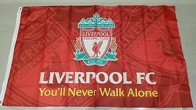 Liverpool F.CFlag Banner3X5FT You'll Never Walk Alone Footbal Club 2Grommets/508