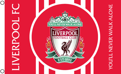 Liverpool L.F.C Flag Banner 3X5FT You'll Never Walk Alone Polyester2Grommets/510
