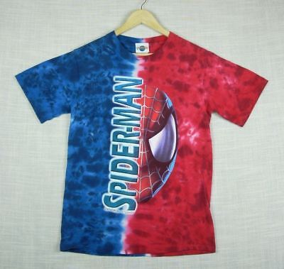 93ce6489 SPIDERMAN Universal Studios / MARVEL Adult Tie Dyed Short Sleeve T-Shirt  size S