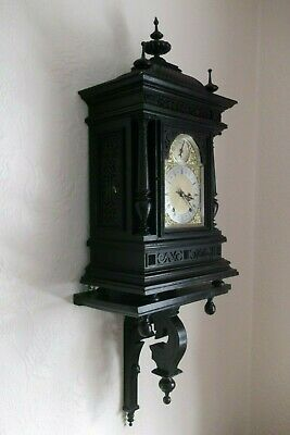 Stunning Huge Ebonised Quarter-striking W&H Bracket Clock
