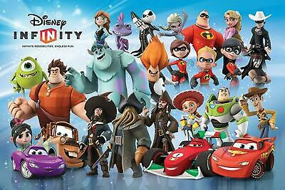 Disney Infiniti Personnages Animation Incroyables Toy Story Cars 61 X 91 CM