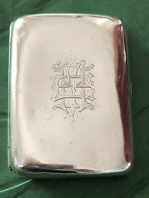 Sterling Silver Cigarette Case - G Loveridge & Co - Birmingham - 1900