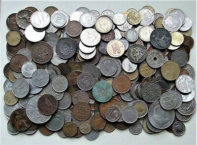MIXEDWORLD COINSover 400 - incl. SILVER and RARE - Approx. 2Kg Wt - Batch 35