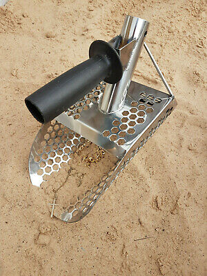 🍀New Heavy Duty Universal Metal Detecting Sand Scoop with extra handle🍀