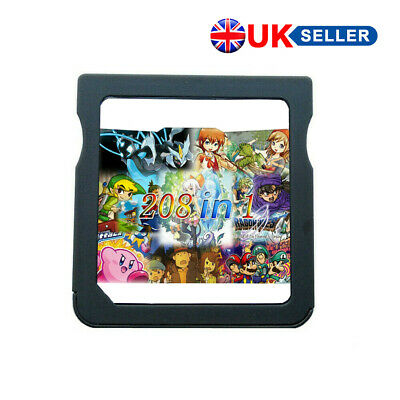 208 in 1 NDS Games Cartridge for Nintendo NDS NDSL NDSi 3DS 2DS Pokemon Mario