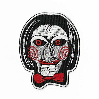Billy The Puppet Patch Embroidered Iron on Badge Saw Jigsaw Kramer Horror Movie